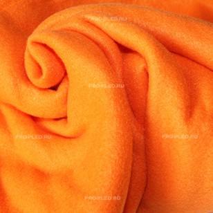 Плед флисовый оранжевый