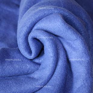 Плед флисовый синий