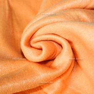 Флисовый плед оранжевый