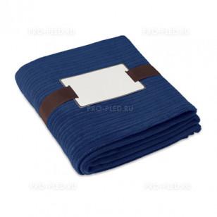 Плед-одеяло флисовый темно-синий