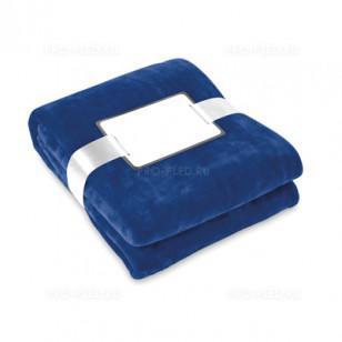 Плед-одеяло флисовый синий