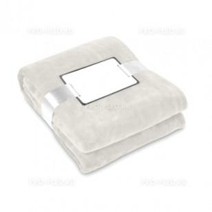 Плед-одеяло флисовый бежевый