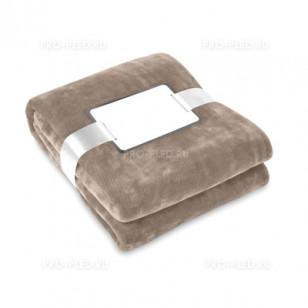 Плед-одеяло флисовый коричневый