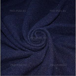 Плед флисовый темно-синий