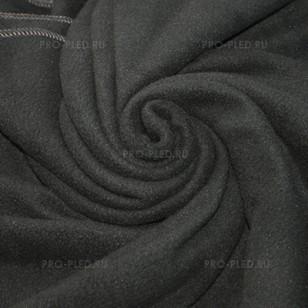 Плед флисовый темно-серый